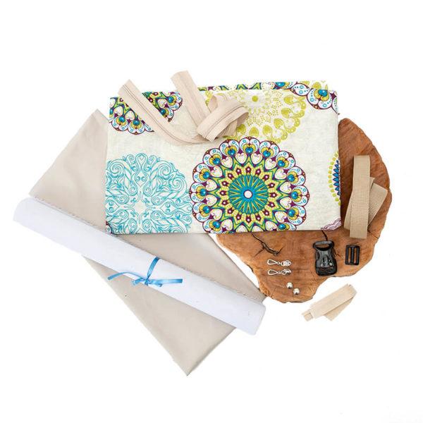 Materiałowy pakiet startowy, zestaw materiałów do uszycia nerki