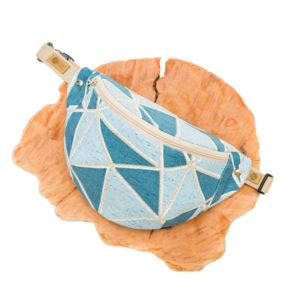 """""""Błękitne geo"""" materiałowy pakiet startowy do samodzielnego uszycia nerki"""