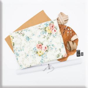 """""""Vintage Flowers"""" materiałowy pakiet startowy do samodzielnego uszycia nerki"""