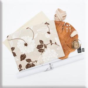 """""""Coffee flowers"""" materiałowy pakiet startowy do samodzielnego uszycia nerki (Kopia)"""