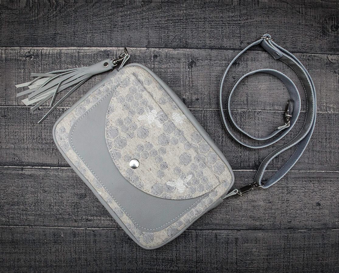 jak uszyć torebkę z chusty i ze skóry naturalnej