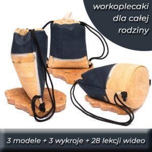 119 zł-Kurs szycia workoplecaków dla całej rodziny – 3 modele
