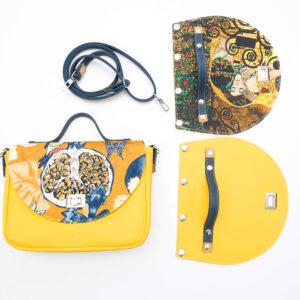 Wymienne klapki – szkolenie online jak uszyć torbę z wymiennymi klapkami
