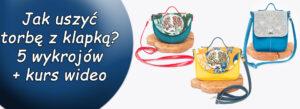 Read more about the article Jak uszyć torbę z klapką – 5 wykrojów + kurs wideo krok po kroku
