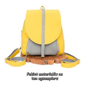"""""""Żółty Benjamin"""" – materiałowy pakiet startowy do samodzielnego uszycia plecaka"""