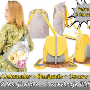 Plecakowe ABC – pakiet trzech kursów online jak uszyć plecak, modele Aleksander, Benjamin, Cezary