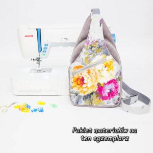 """""""Kwiatowy Cezary"""" z tkaniną FOREVER materiałowy pakiet startowy do samodzielnego uszycia plecaka"""