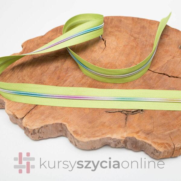 taśma suwakowa zyłkowa spiralna 5 mm tężowa spirala taśma zielona 1