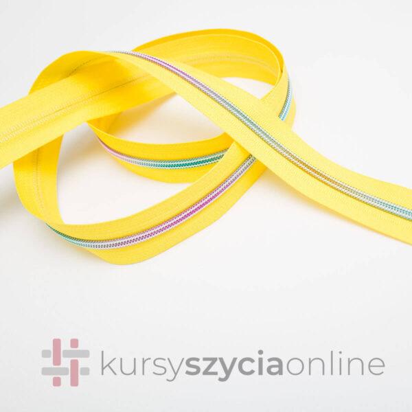 taśma suwakowa zyłkowa spiralna 5 mm tężowa spirala taśma żółta5