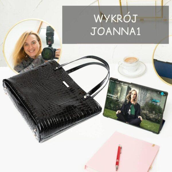 Joanna 1 shopper bag zz doszywanym dnem, wykrój PDF