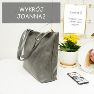 Shopper bag z dnem typu origami, model Joanna 2 – wykrój + wideo tutorial