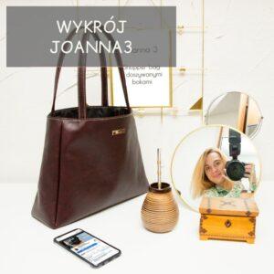 Shopper bag z doszywanymi bokami, model Joanna 3 – wykrój + wideo tutorial