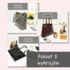 Jak uszyć torbę typu shopper, pakier wykrojow 3 modele tutorial