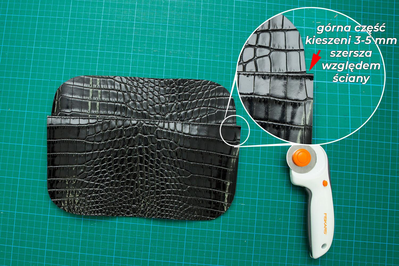 Jak uszyć torebkę box ze skóry kurs szycia online by kamila plasun wykroje