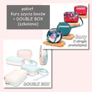 Kurs szycia torebek BOX + szkolenie DOUBLE BOX (PAKIET)