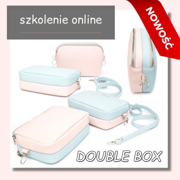 jak uszyć torebkę dwukomorową box podwójny double box kurs szycia online