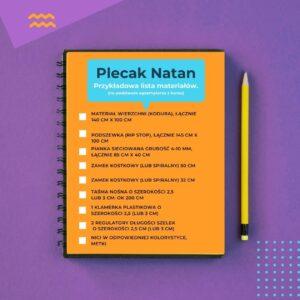 Plecak 3w1 – plecak kurierski, na laptopa, rekreacyjny, model NATAN, kurs szycia online