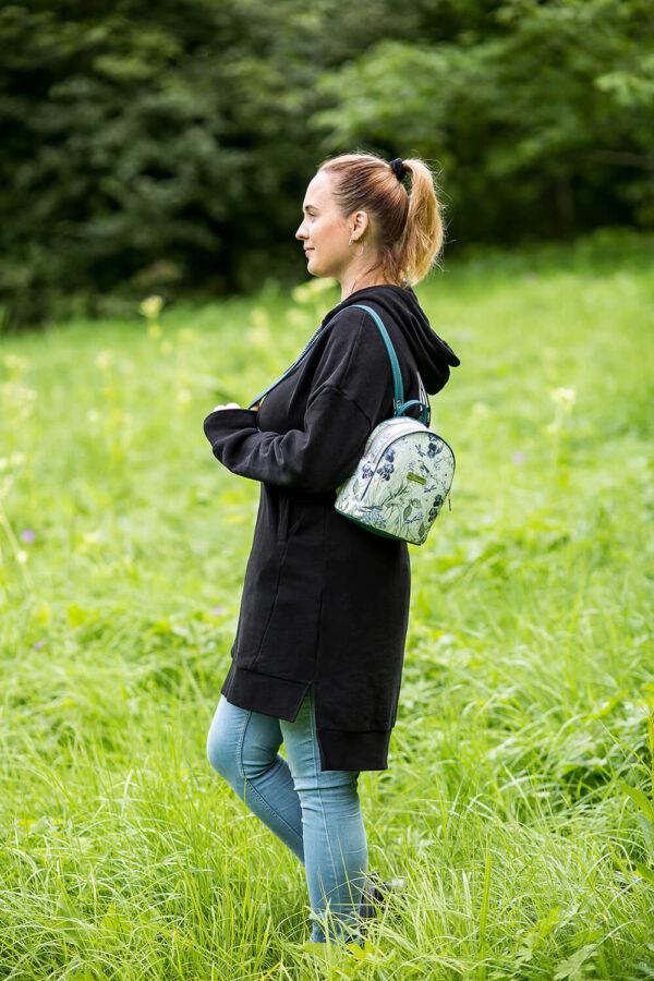 Jak uszyć plecak dwukomorowy bez lamowania brzegów, model mona w dwóch rozmiarach