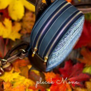 Plecak dwukomorowy – MONA, dwa rozmiary (MINI, MAXI), kurs szycia online
