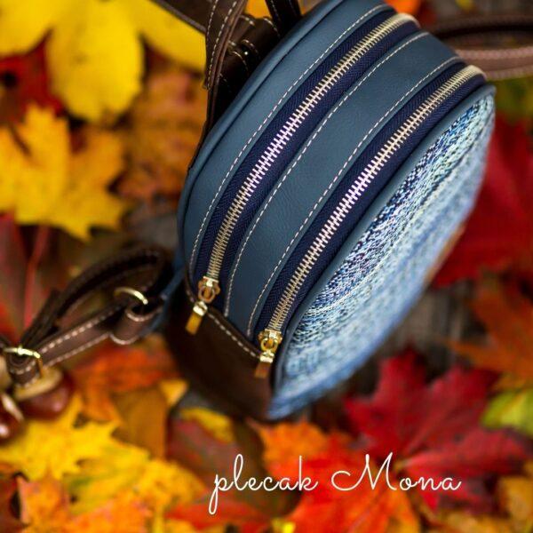 Jak uszyć plecak dwukomorowy bez lamowania brzegów, model mona w dwóch rozmiarach model Mona