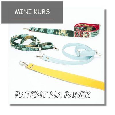 Patent na pasek - mini kurs wideo jak uszyc paski, szelki do torebek i plecaków bez wywijania na prawą stronę